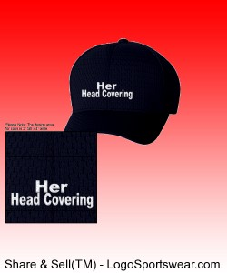 """Her Head Covering"" Six Panel Low Profile Athletic Mesh Flexfit Cap Design Zoom"