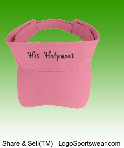 """His Helpmeet"" Washed Cotton Twill Visor Design Zoom"